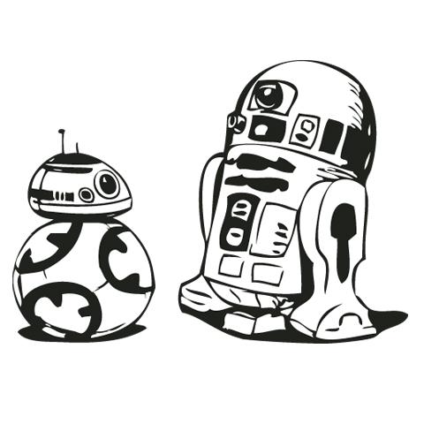 480x480 Star Wars Black And White Clip Art