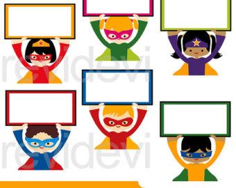 340x270 Superhero Clipart Superhero Clip Art Instant Download