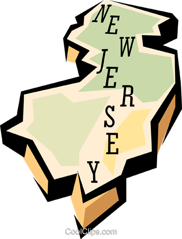 367x480 New Jersey State Map Royalty Free Vector Clip Art Illustration
