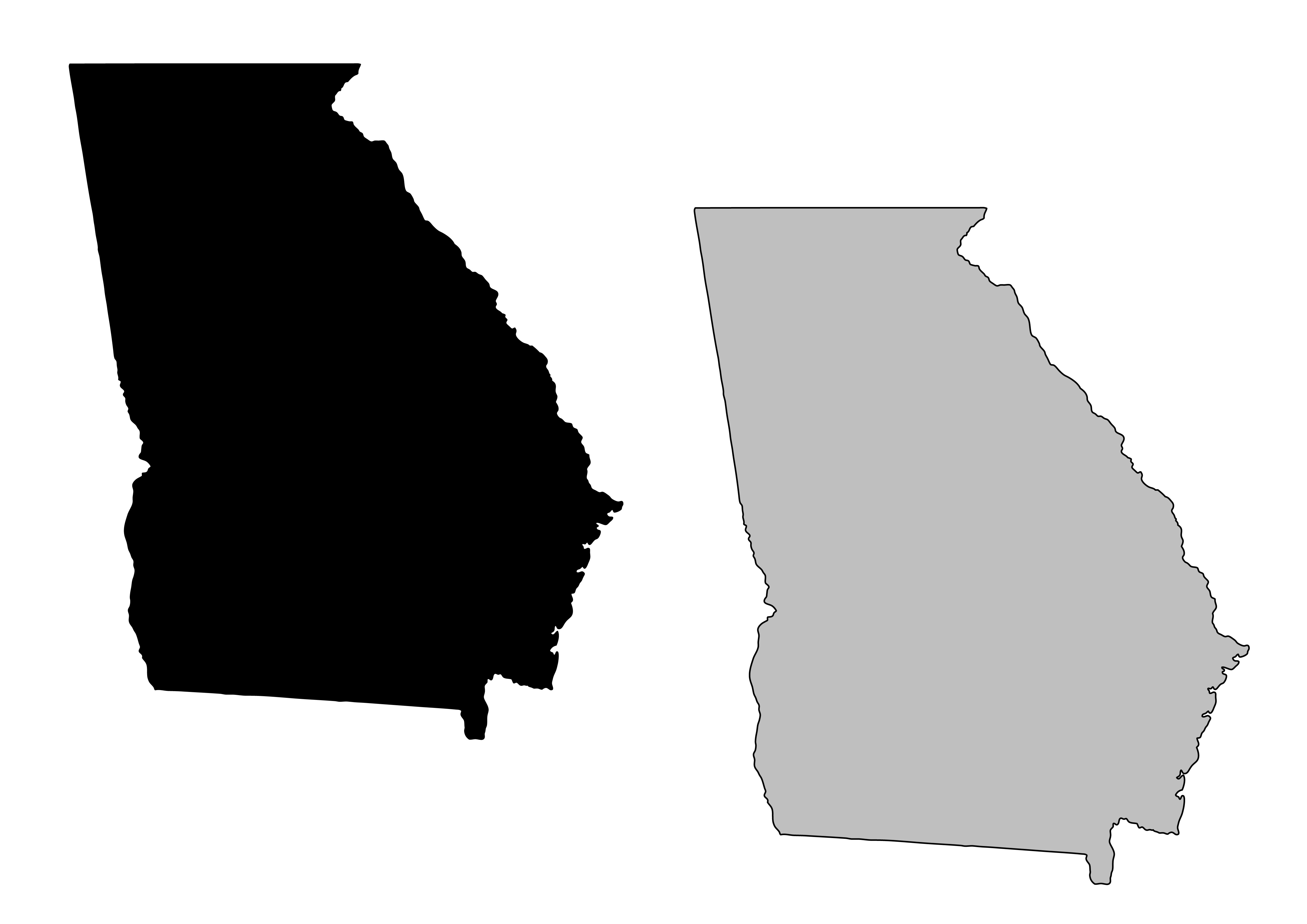 4911x3472 State Of Georgia Clip Art Images