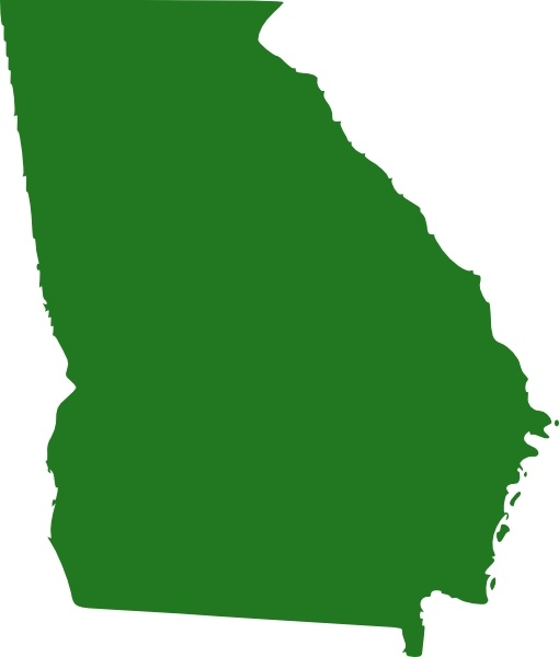 510x600 State Of Georgia Map Clip Art Free Vector In Open Office Drawing