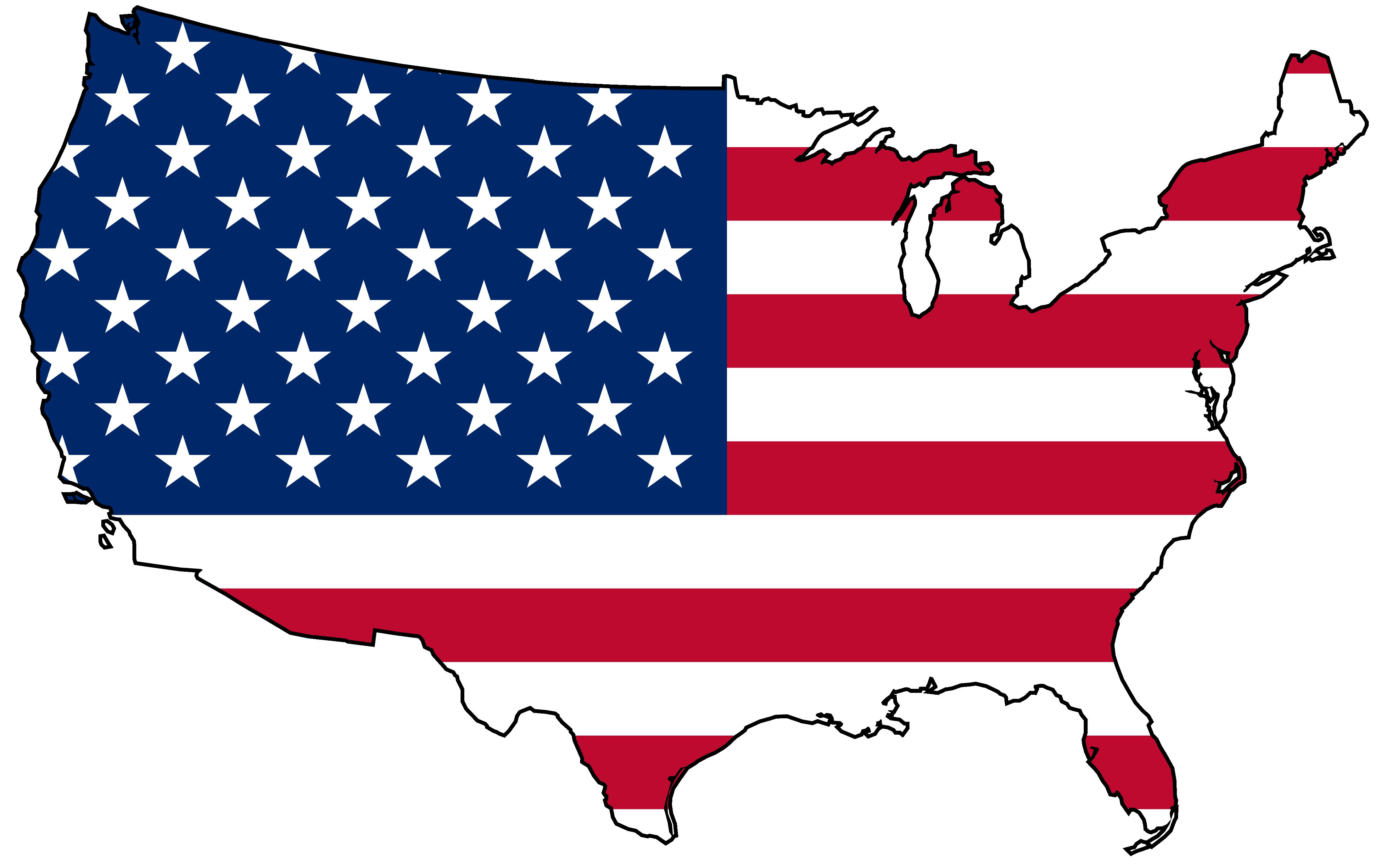 4444x2760 Top 75 United States Clip Art