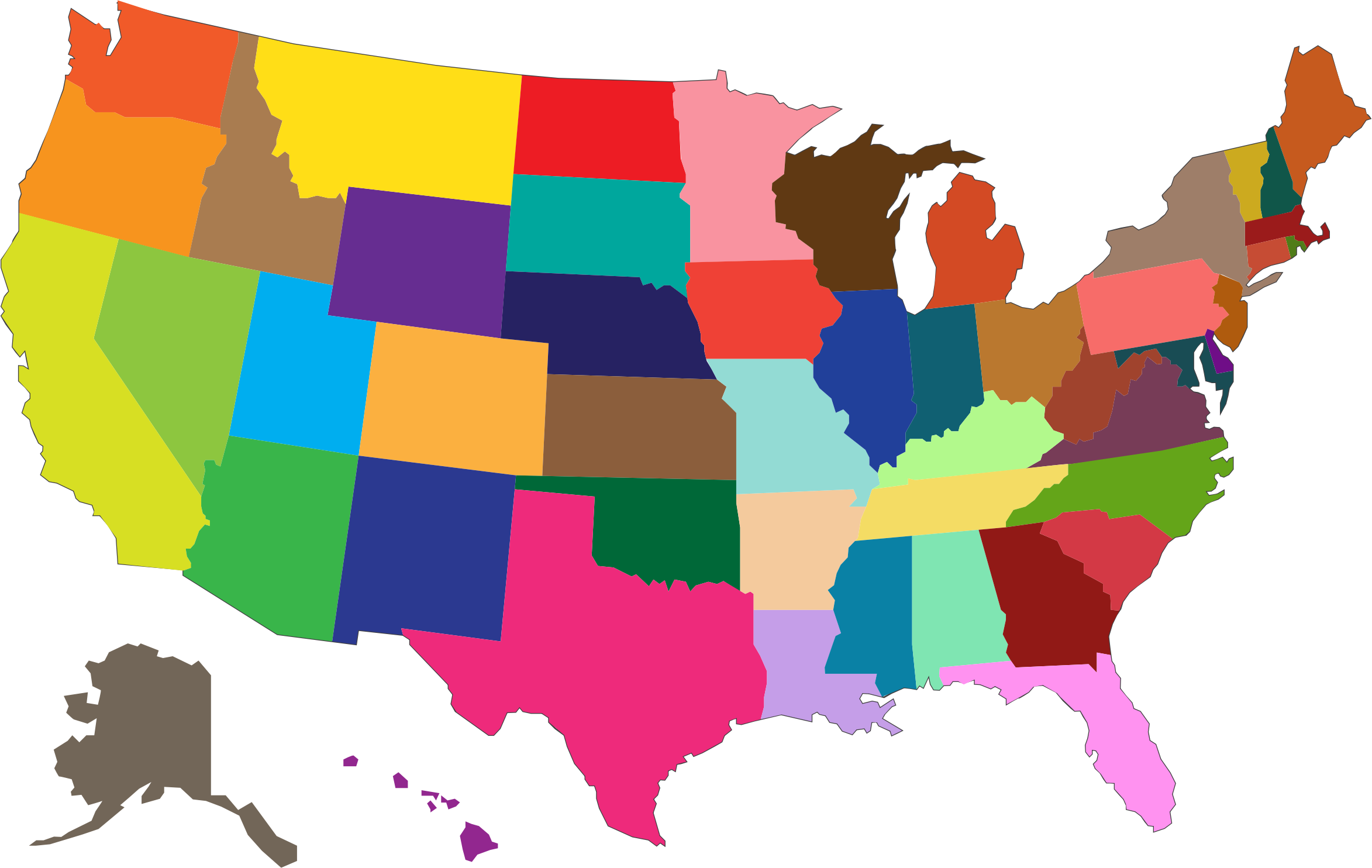 2346x1484 Us Map With States Clip Art Usa Clipart State Hd 18