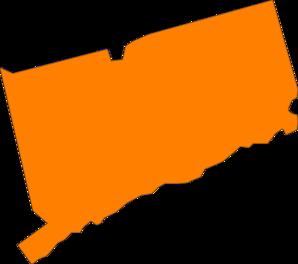 298x264 Connecticut State Orange Clip Art