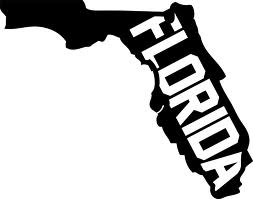 253x199 Florida State Map Clipart