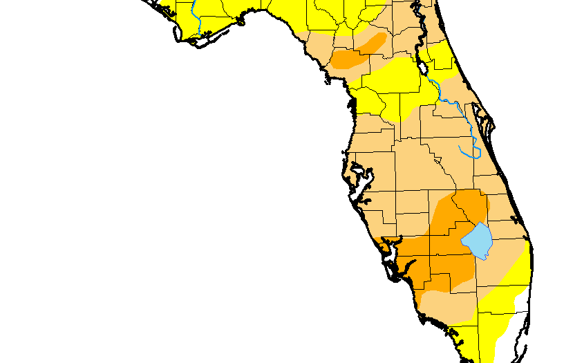 816x525 Alachua County, Areas Of Florida In Severe Drought Wuft News