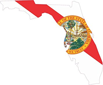 355x294 5in X 5in Die Cut Florida State Flag Bumper Sticker