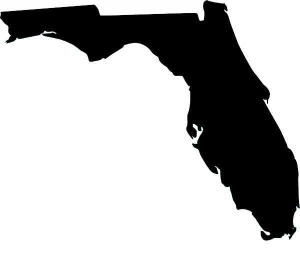 600x537 Black Florida Clip Art