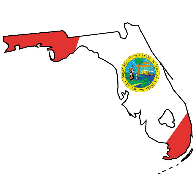 660x660 Florida Flag And Vector Map