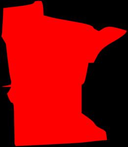 261x298 Red Minnesota State Clip Art