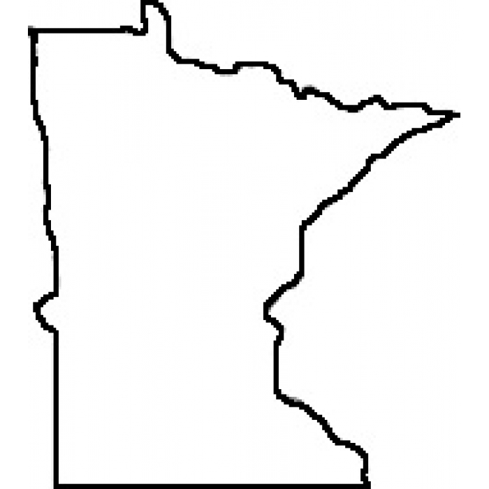 700x700 State Of Minnesota Outline Map Rubber Stamp