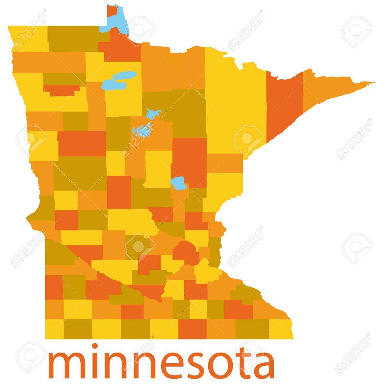 1300x1300 Usa Map States Minnesota