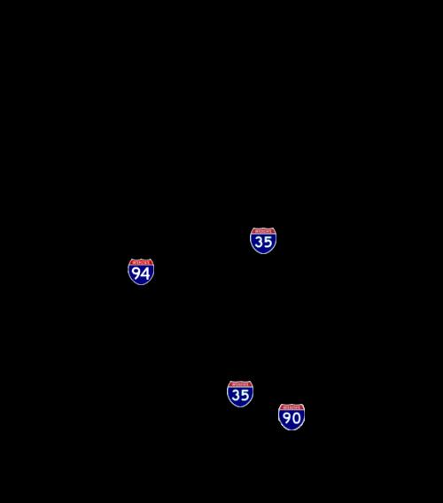 500x568 List Of Interstate Highways In Minnesota