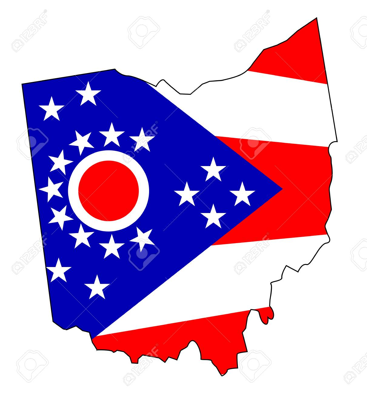 1211x1300 1,162 Ohio Map Stock Illustrations, Cliparts And Royalty Free Ohio