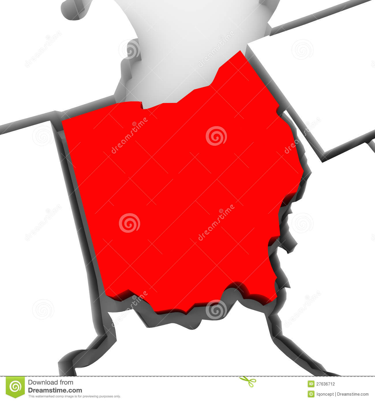 1300x1390 Red State Map Clipart
