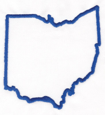 365x400 Ohio State Map Clip Art