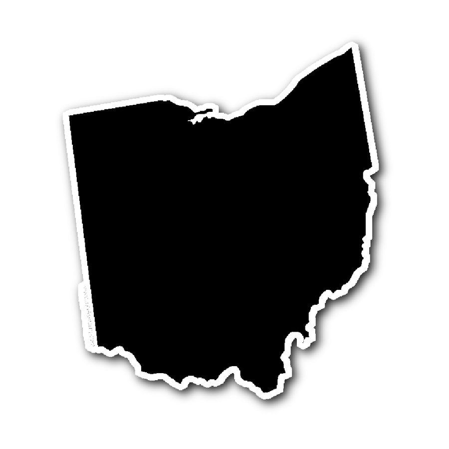 900x900 Ohio State Shape Sticker Outline