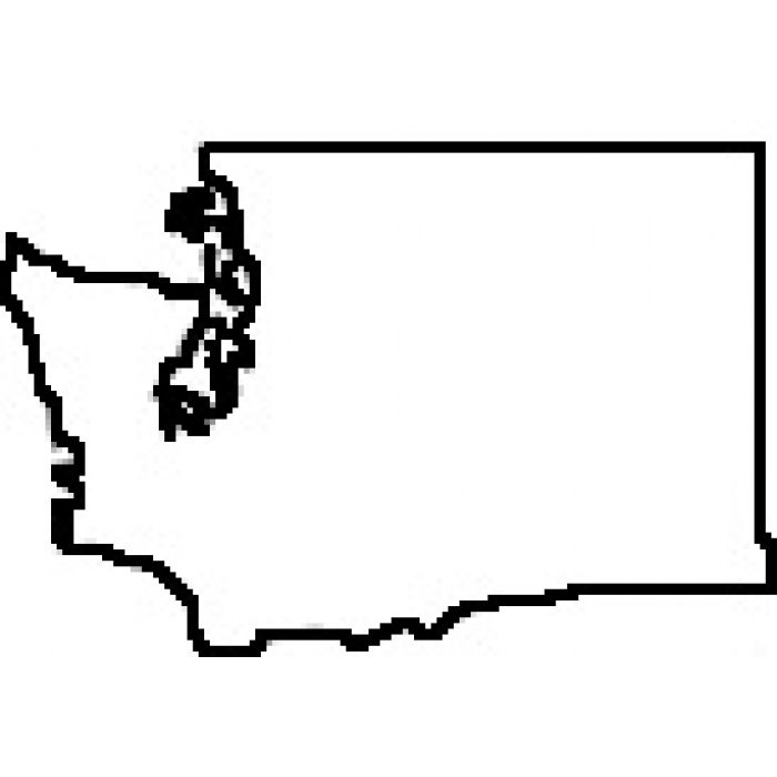 700x700 State Of Washington Outline Clipart