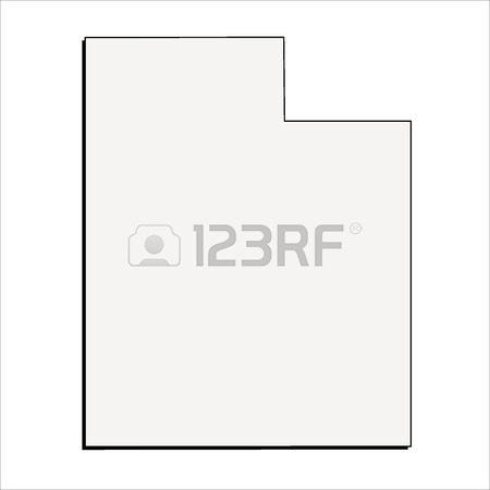 450x450 Vector Ohio State 3d Outline Map Royalty Free Cliparts, Vectors