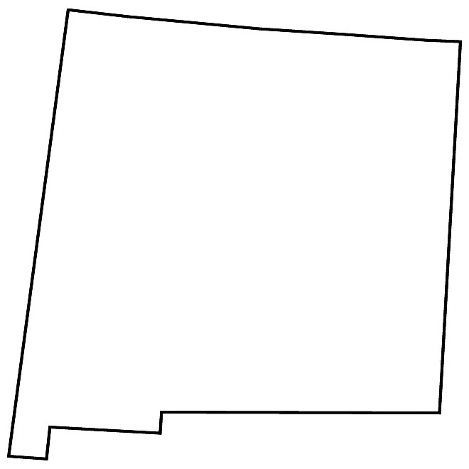 660x660 Oklahoma Vector Map