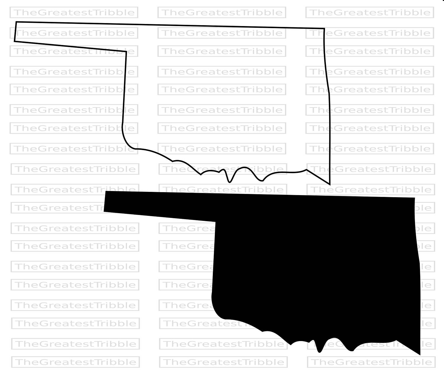 1500x1270 Oklahoma State Map Svg Png Jpg Vector Graphic Clip Art Oklahoma