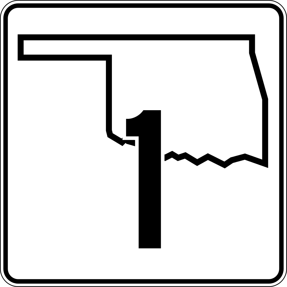 1000x1000 Fileoklahoma State Highway 1.svg