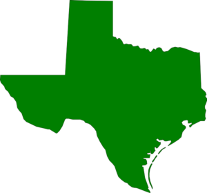 300x279 State Of Texas Green Texas State Clip Art