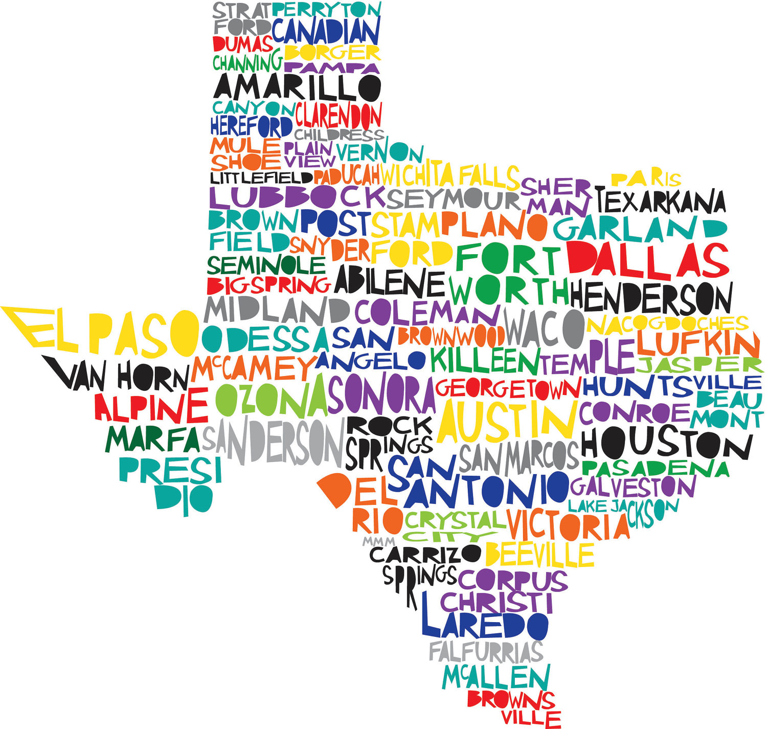1500x1425 Texas Digital Illustration Print Of Texas State Cute For A Map
