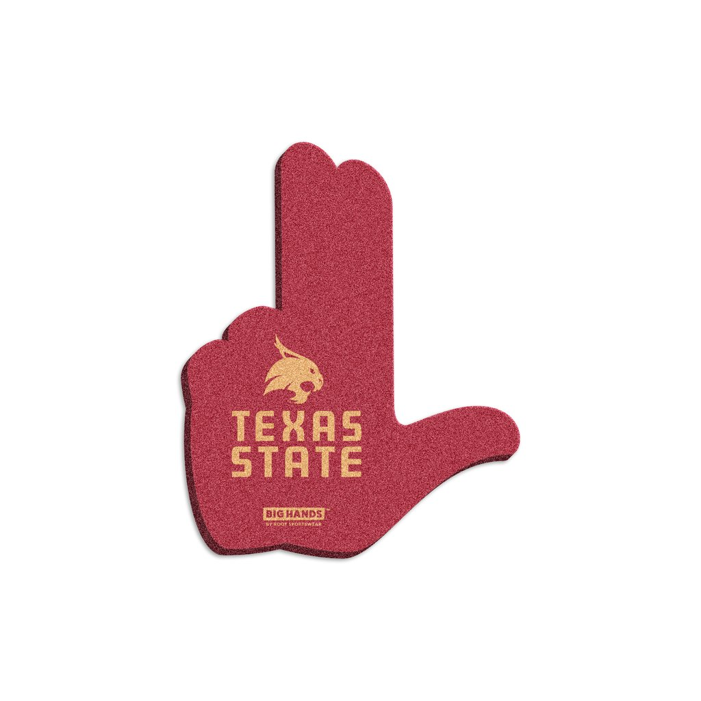 1024x1024 Texas State Bobcats Heart Of Texas Hand Sign Foam Hand Root