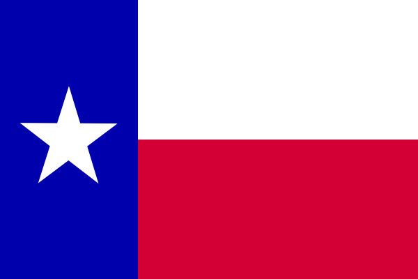 600x400 Flag Of The State Of Texas Clip Art