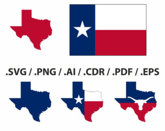 340x270 Texas Flag Art Etsy