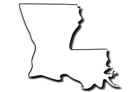 450x300 Louisiana State Outline Clip Art