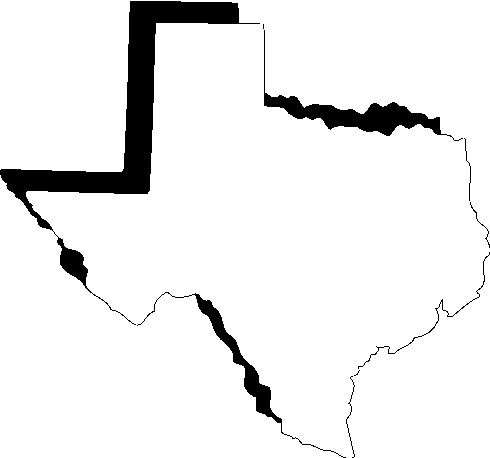 490x458 Map Of Texas Outline Clipart