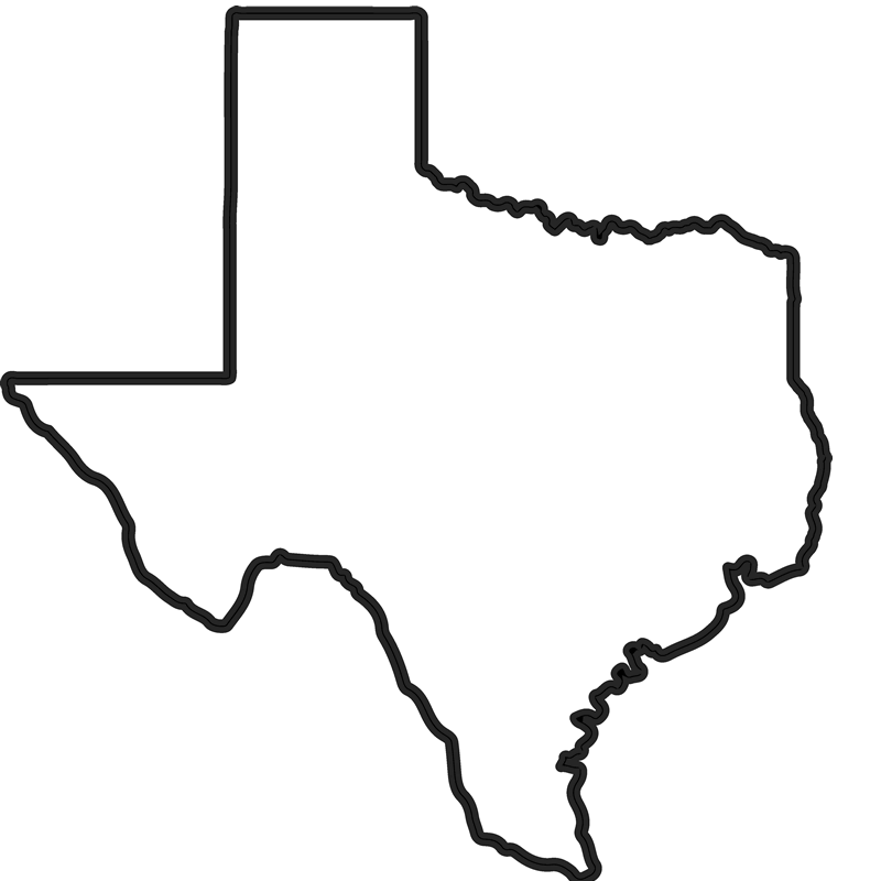 800x800 Texas Outline Rubber Stamp State Rubber Stamps Stamptopia