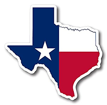 355x349 State Of Texas Outline Reflective Decal Automotive
