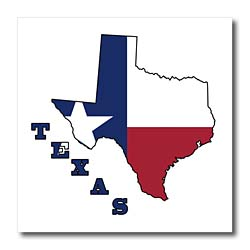 250x250 Texas State Map Clipart