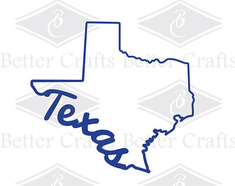 340x270 Texas State Outline Etsy