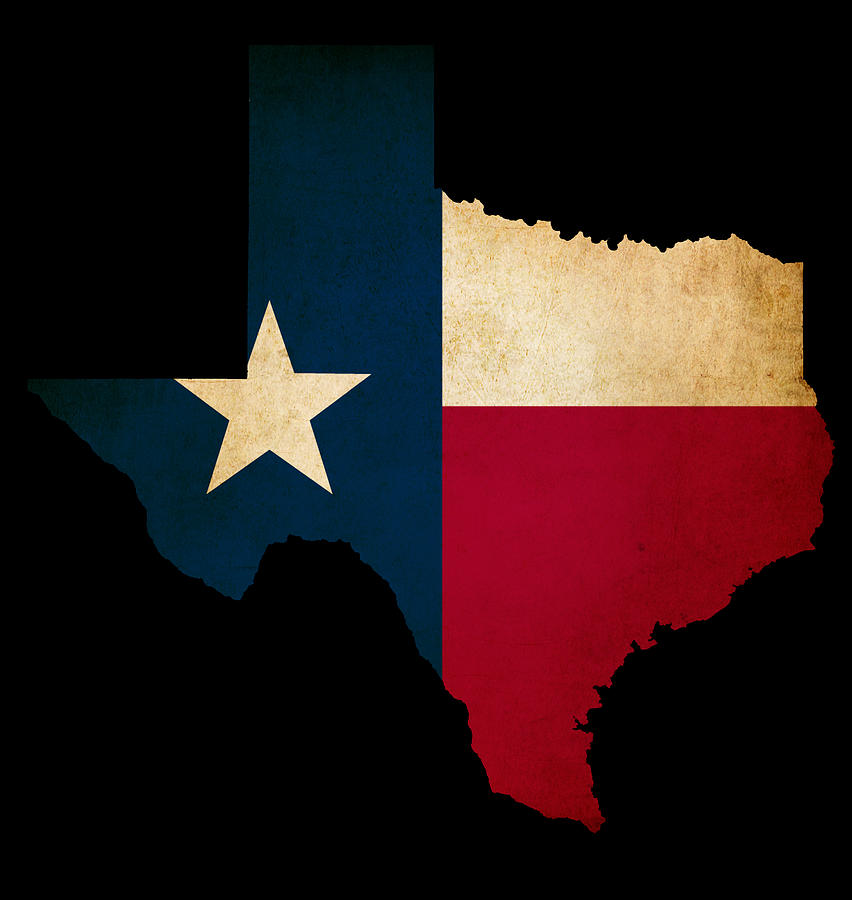 852x900 Usa American Texas State Map Outline With Grunge Effect Flag