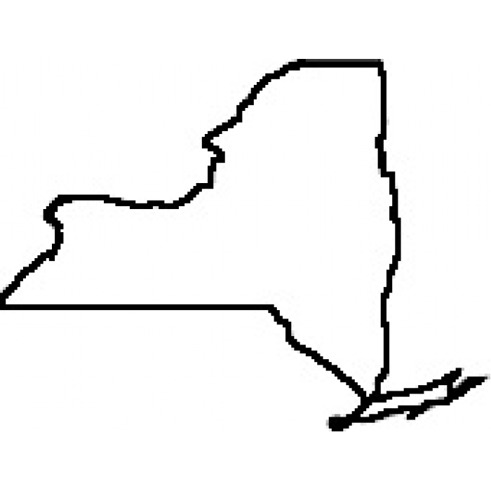 700x700 Clipart New York State Map