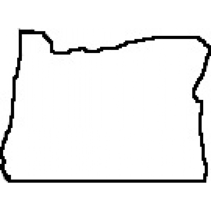 700x700 Map Of Oregon Outline
