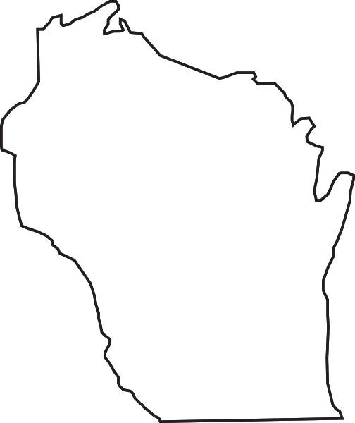 504x600 Wisconsin Outline Clip Art