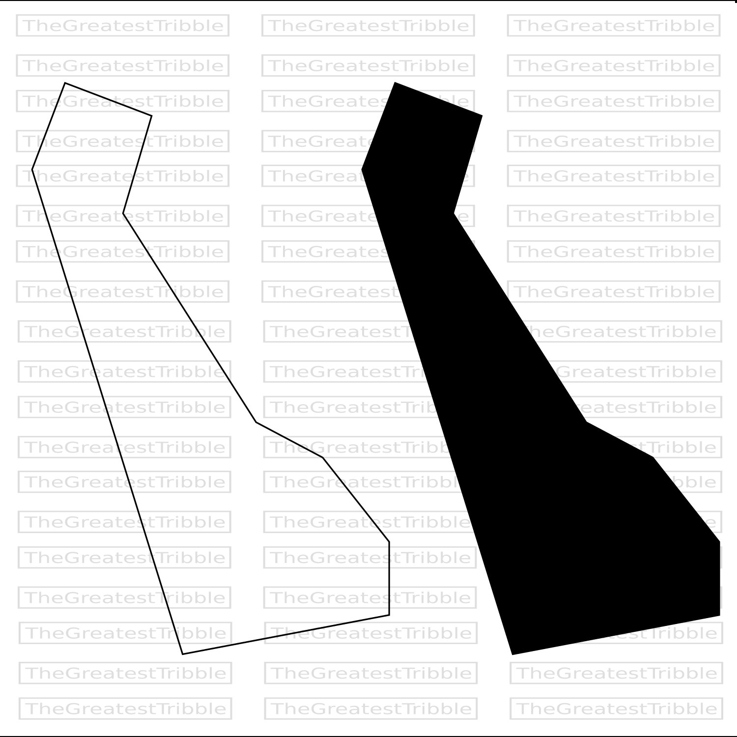 1500x1500 Delaware State Map Svg Png Jpg Vector Graphic Clip Art Delaware