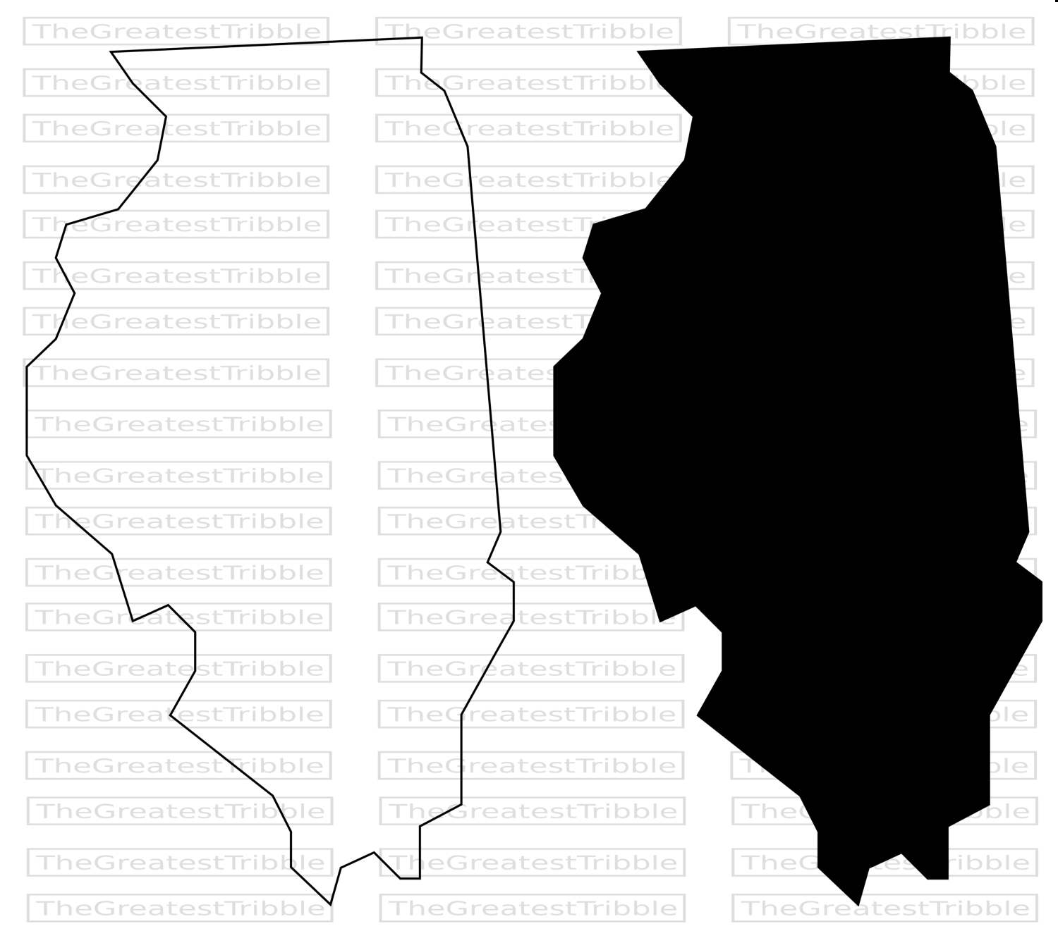 1500x1338 Illinois State Map Svg Png Jpg Vector Graphic Clip Art Illinois
