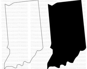 340x270 Indiana Outline Etsy