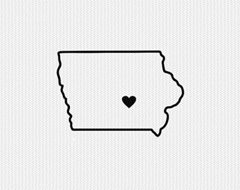 340x270 Iowa State Outline Etsy