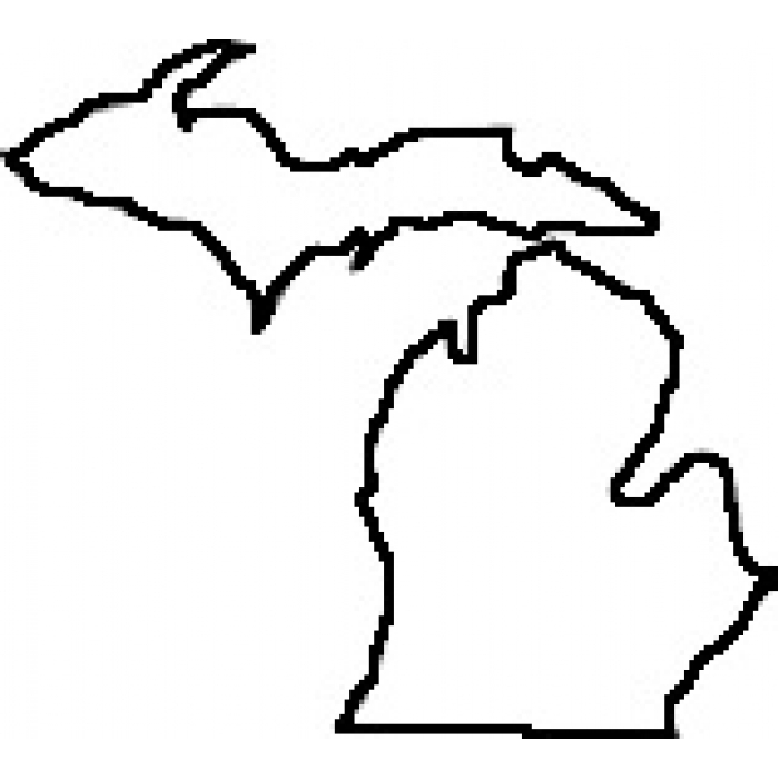 700x700 Michigan Lower Peninsula Outline Clipart