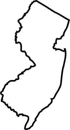 223x416 New Jersey Outline Clipart