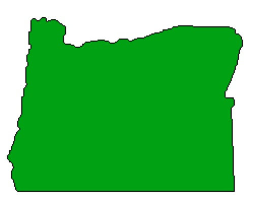 500x402 Outline Of Oregon State Map
