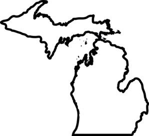 298x273 State Of Michigan Clipart