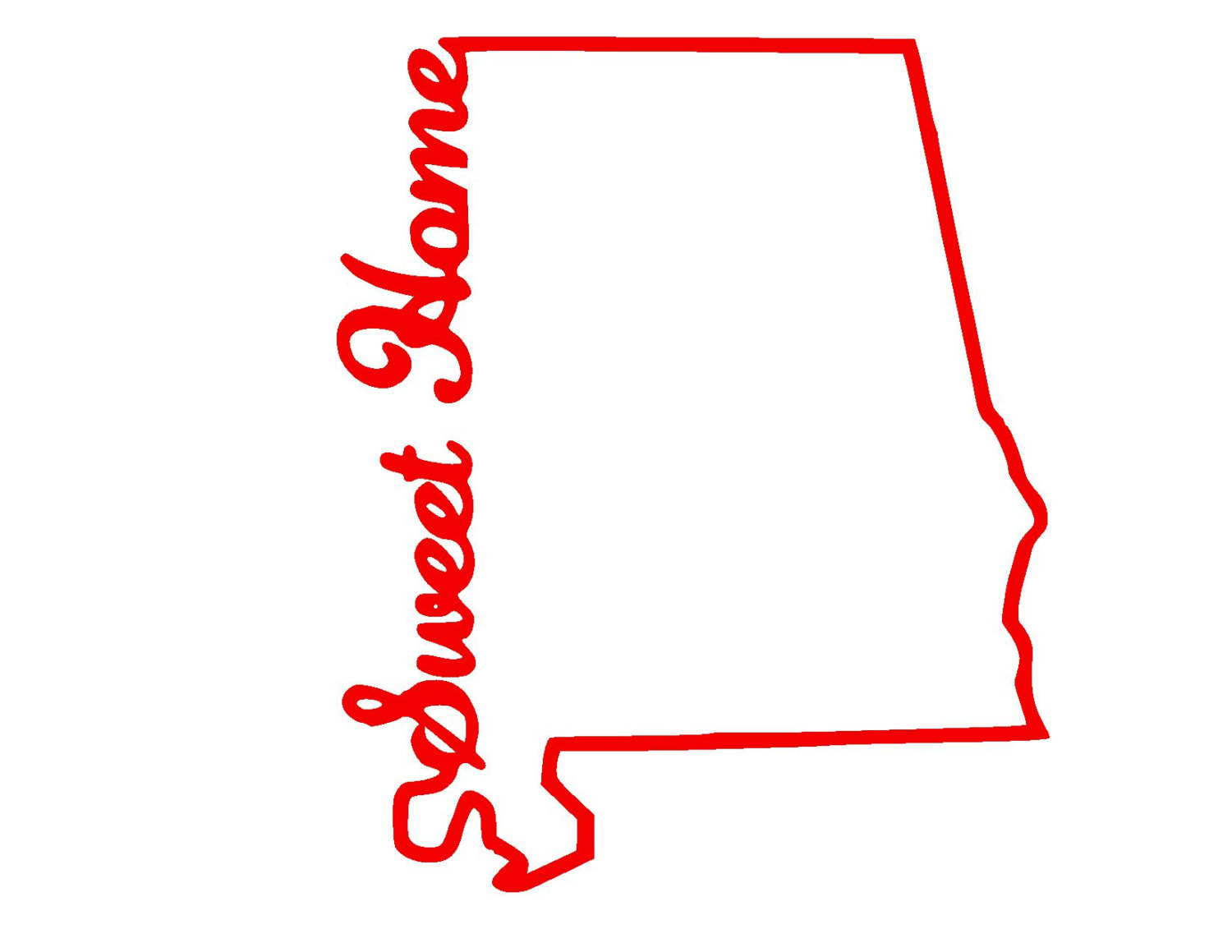 1500x1159 State Of Alabama Outline Clip Art